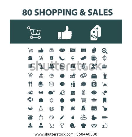 store, shopping, retail, sales  icons, signs vector concept set for infographics, mobile, website, application  - stock vector