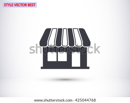 Store vector icon - stock vector