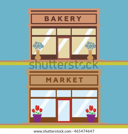 Stores and Shop Facades vector eps 10