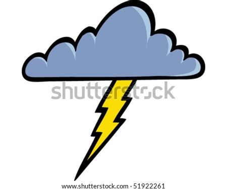 Storm Cloud - stock vector