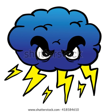 Blowing Cartoon Wind Storm Cloud Royalty Free Stock Image ...   Cartoon Storm