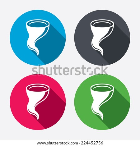 Storm Sign Icon Gale Hurricane Symbol Stock Vector 224452756