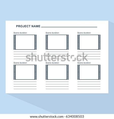 storyboard template form film scenario media stock vector royalty