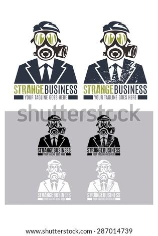 Strange Business Vector Logo Template Logo Stock Vector (2018 ...