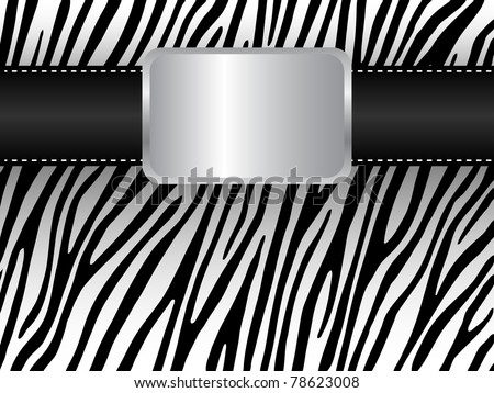 Strap on the background of a zebra - stock vector