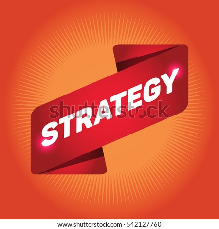 STRATEGY arrow tag sign.