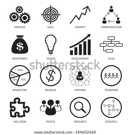 Strategy concept icons. Vector illustration - stock vector