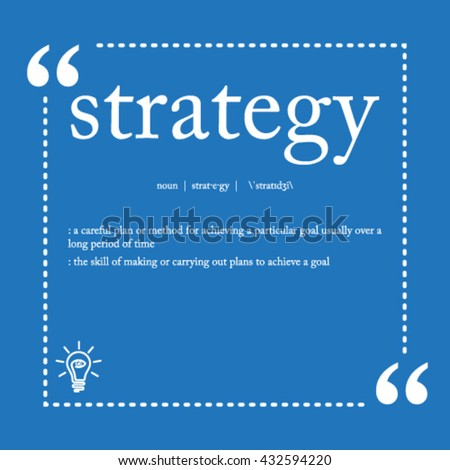Strategy definition - stock vector