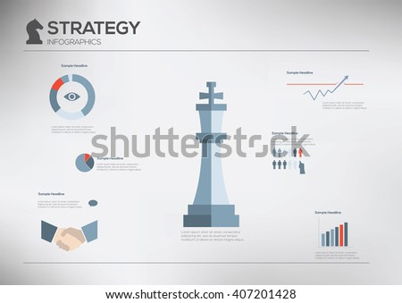 Strategy. Modern flat infographics. Creative vector illustration - stock vector