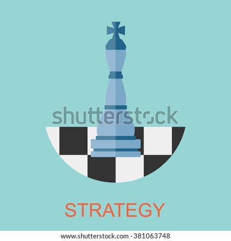 Strategy sign. Target Strategy Achievement Success, Flat design for business financial marketing banking commercial advertising e-commerce shopping minimal concept cartoon illustration. - stock vector