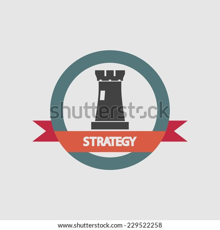 strategy tower icon - stock vector