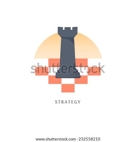 Strategy. Vector illustration. - stock vector