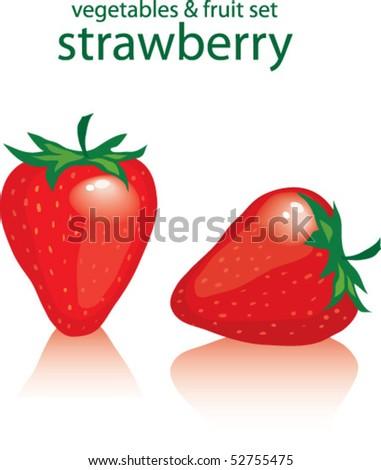 strawberry - stock vector