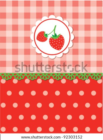 Strawberry background, vector - stock vector