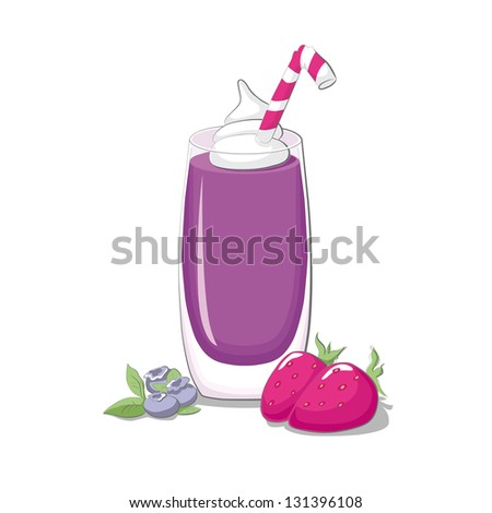 Strawberry & blueberry smoothie