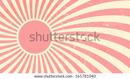 Strawberry, cream abstract hypnotic background. vector illustration - stock vector
