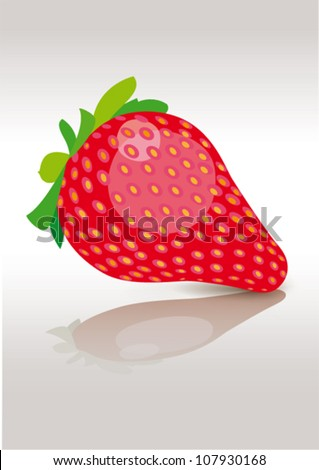 strawberry isolated - stock vector