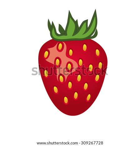 Strawberry isolated on white background - stock vector