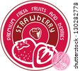 Strawberry label. Vector strawberry sign. - stock vector
