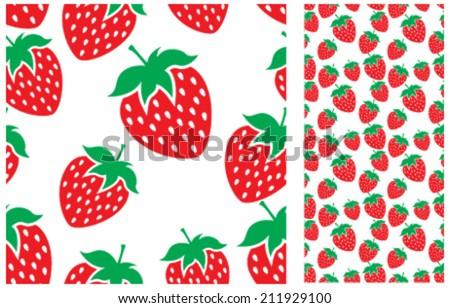Strawberry Pattern - stock vector