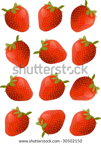 Strawberry. vector - stock vector