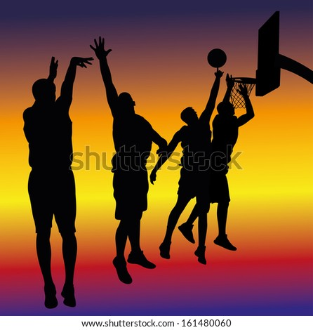street basketball poster - background - stock vector