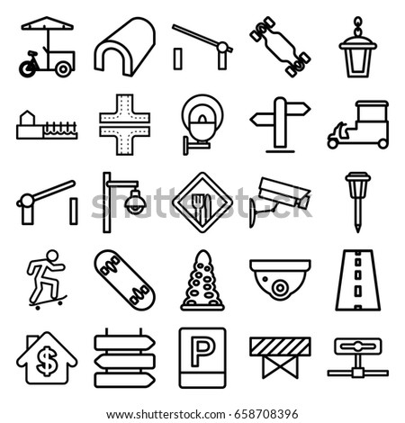 street icons set set 25 street stock vector royalty free 658708396