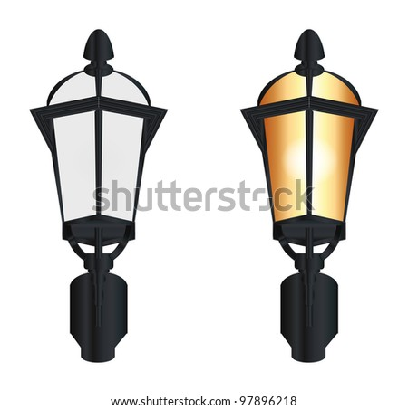 street lamp - stock vector