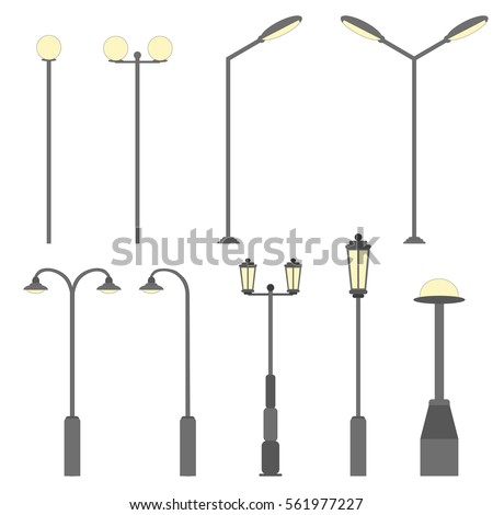 Street Lamp Vector Stock Images Royalty Free Images