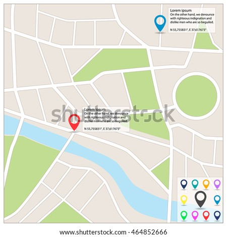 Street Maps Map Pointer Icons City Stock Vector (Royalty Free ... on address home, address email, address art, address numbers, address search, address locator, address letter,