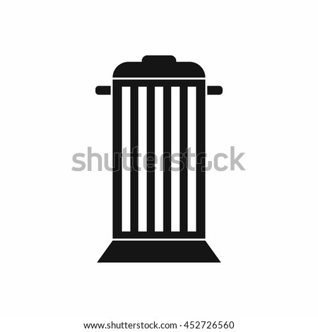 Street trash icon in simple style. Garbage symbol isolated vector illustration
