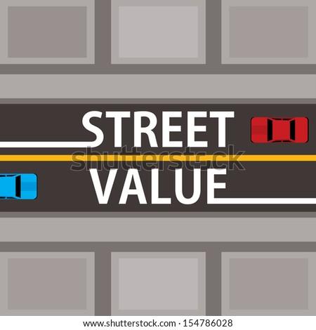 street value, financial concept - stock vector