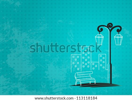 streetlight background - stock vector