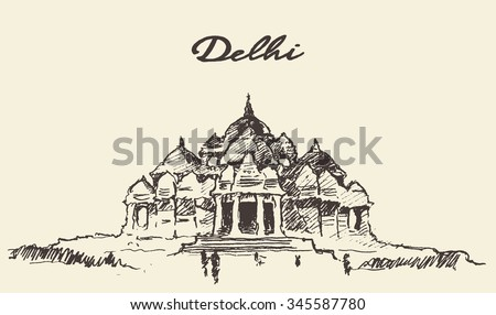 Streets delhi akshardham temple vector illustration stock vector hd streets in delhi akshardham temple vector illustration hand drawn sketch thecheapjerseys Choice Image