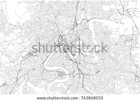 streets of brisbane city map australia street map