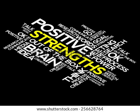 Strengths word cloud, business concept - stock vector