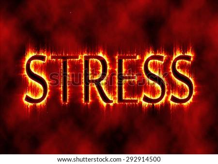 Stress Fire effect - stock vector