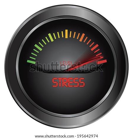 Stress meter indicate, vector - stock vector