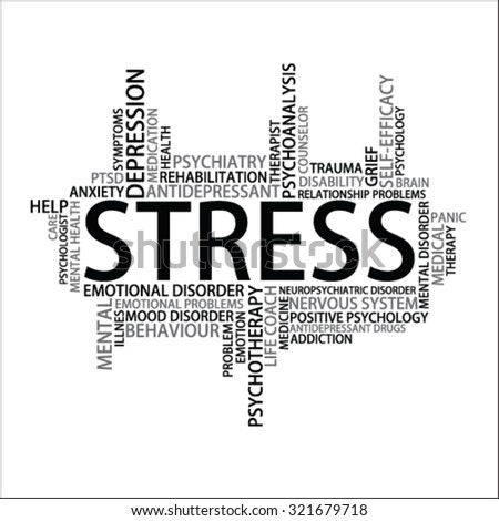 Stress Tag Cloud, vector - stock vector