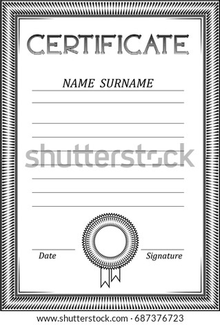 Strict black white certificate form pattern stock vector 687376723 strict black and white certificate form a pattern of lines a simple empty template yelopaper Choice Image