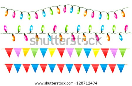 Christmas Light String Clip Art Black And White Strings of holiday ...