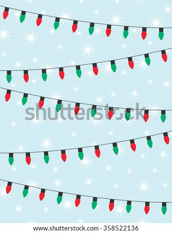 strings of red and green christmas lights over blue background - Green And Red Christmas Lights