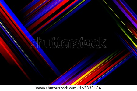 Striped abstract design on dark background. Vector illustration.