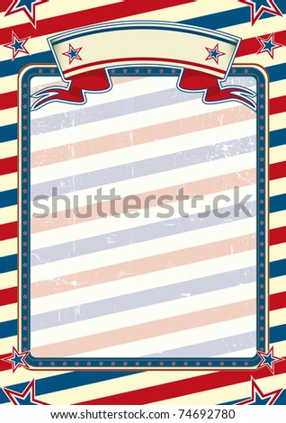 striped american poster a national poster with a grunge texture for you - stock vector