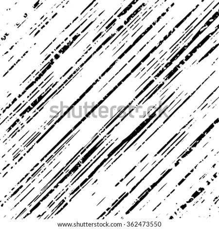 Striped grunge black and white texture. Vector ink grunge brush. Illustration background.  - stock vector