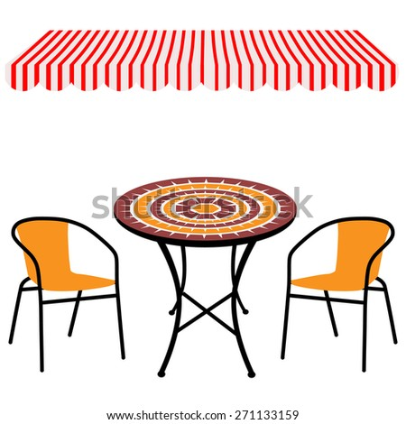 round table and chairs clipart. striped red and white shop window awning vintage outdoor table chairs.round round chairs clipart