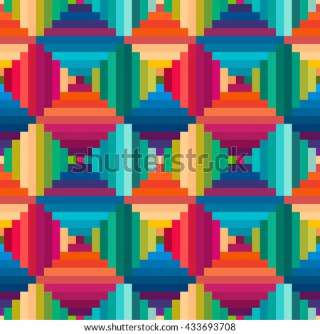 Striped rhombus geometric seamless pattern. Abstract background. - stock vector