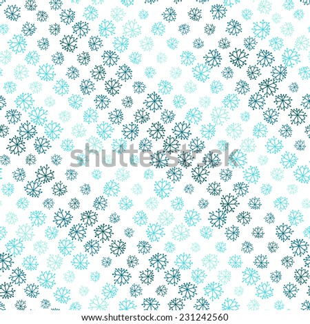 striped seamless Christmas pattern with snowflakes - stock vector