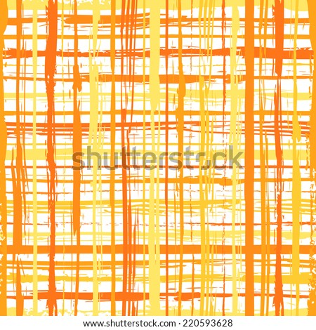 Striped seamless pattern with crossing brushed lines  Abstract background with hand drawn stripes. Vector watercolor lines background. - stock vector
