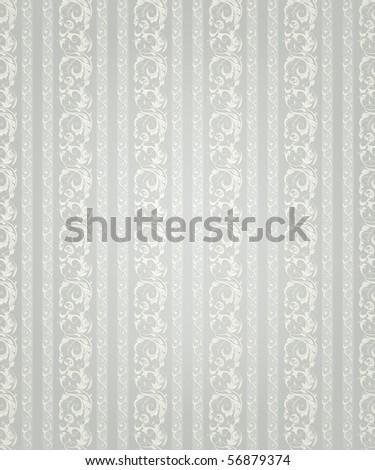 Striped wallpaper pattern, vector - stock vector